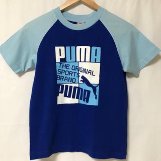 プーマ(PUMA)のsize140★PUMA★半袖 ブルー×水色(Tシャツ/カットソー)