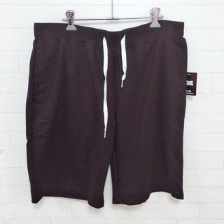 新品 3L スウェット ハーフパンツ ユニセックス 黒 大きいサイズ (ショートパンツ)