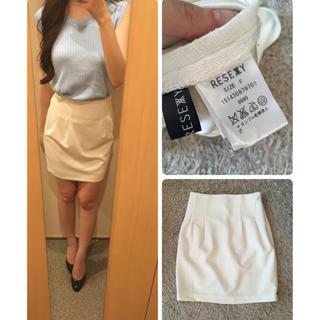 リゼクシー(RESEXXY)のリゼクシー♡ホワイトタイトスカート(ミニスカート)
