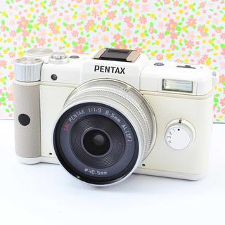 ✨小さなボディの本格カメラ&Wifi ✨ペンタックス Q レンズセット(ミラーレス一眼)
