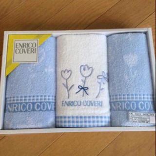 エンリココベリ(ENRICO COVERI)のENRICO COVERI フェイスタオル 2枚とウォッシュタオル 1枚(タオル/バス用品)