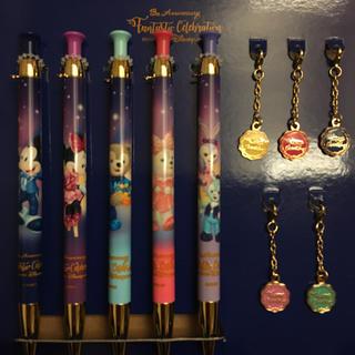 ディズニー(Disney)の香港ディズニー13周年ボールペン5点セット(キャラクターグッズ)