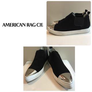 アメリカンラグシー(AMERICAN RAG CIE)のアメリカンラグシー♡ブラックスエード  メタリック スニーカー♡(スニーカー)