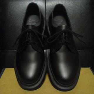 ドクターマーチン(Dr.Martens)の【極美品】Dr.Martens 1461 MONO UK4 黒 3ホール(ローファー/革靴)