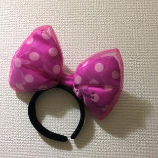 ディズニー(Disney)のミニーちゃん リボン カチューシャ(カチューシャ)