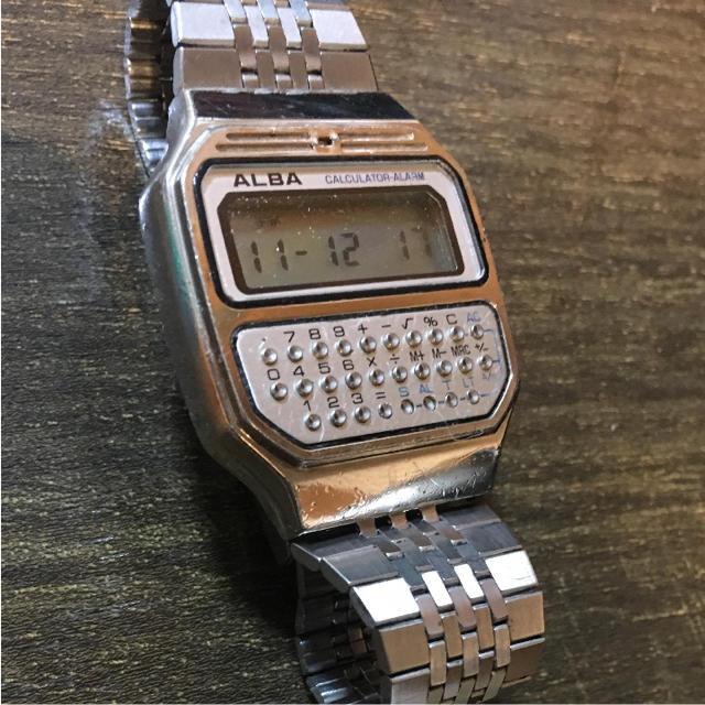 ALBA(アルバ)のしんしん。様専用 ALBA  CALCULATOR ALARM メンズの時計(腕時計(デジタル))の商品写真