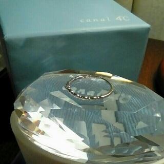 カナルヨンドシー(canal4℃)のカナル4℃ ホワイトゴールド 一粒 ダイヤモンド リング(リング(指輪))