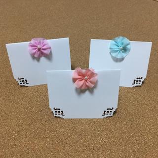 メッセージカード【チュールフラワー】15枚✧(カード/レター/ラッピング)
