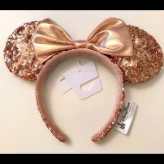 ディズニー(Disney)の大人気!ローズゴールド ディズニーカチューチャ スパンコール(カチューシャ)