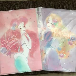 ディズニー(Disney)の新品♡アリエル&ラプンツェル 5ポケットクリアファイル(クリアファイル)