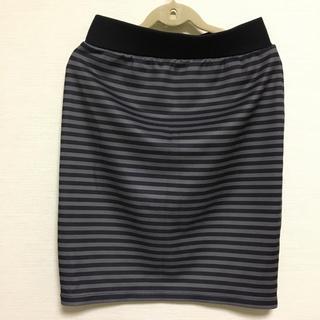 ジーユー(GU)のボーダーのタイトスカート(ミニスカート)