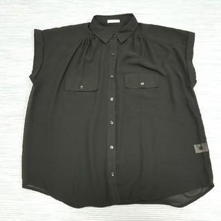 ジーユー(GU)のGU⭐黒色シースルーシャツ(シャツ/ブラウス(半袖/袖なし))