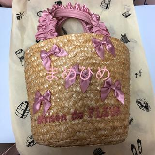 メゾンドフルール(Maison de FLEUR)の新品♡フリルハンドル丸底カゴバッグ♡ピンク♡メゾンドフルール(かごバッグ/ストローバッグ)