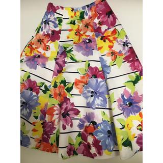 チェスティ(Chesty)のchesty 花柄スカート (ひざ丈スカート)