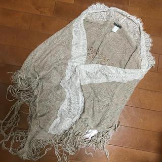 ナンバージュウイチ(n゜11)のナンバー11 かぎ編みレースショール ストール(ストール/パシュミナ)