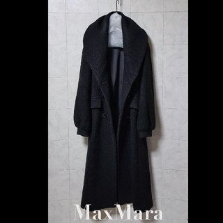 マックスマーラ(Max Mara)の超高級 MaxMara最高級ライン モダンブラックコート マックスマーラ 白タグ(チェスターコート)
