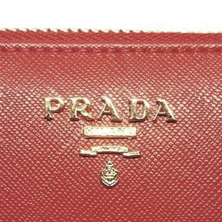プラダ(PRADA)の【未使用】プラダ サフィアーノ レザーファスナー長財布(レッド)(財布)