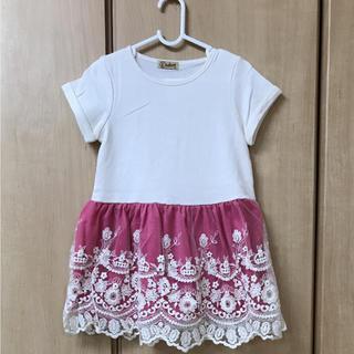 ❤️新品❤️ドッキングワンピース*ピンク*スカーフ付*キッズドレス(ワンピース)