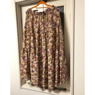 シフォンロングスカート 3L(ロングスカート)