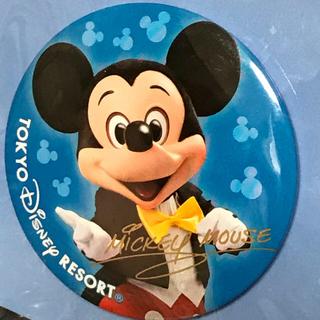 ディズニー(Disney)のミッキー & ミニー実写 サイン入り 缶バッジ 2個セット(キャラクターグッズ)