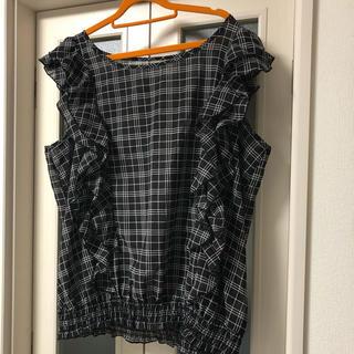 ピアノ様☆ショルダーフリルブラウス 5L(シャツ/ブラウス(半袖/袖なし))