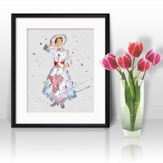 ディズニー(Disney)の日本未発売!メアリーポピンズ・アートポスター【額縁つき・送料無料!】(ポスター)