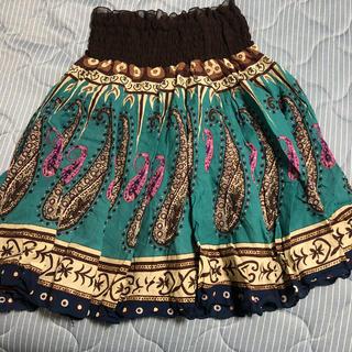 ウエストシフォン 膝丈スカート(ひざ丈スカート)