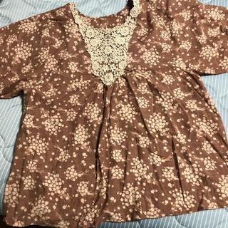 バルーン袖 シャツ  3L(シャツ/ブラウス(半袖/袖なし))