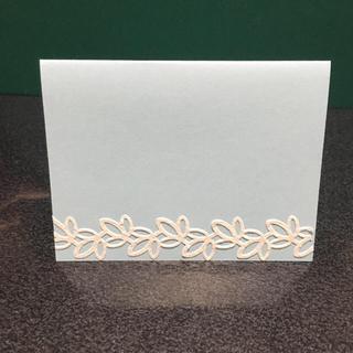 メッセージカード 【パステルブルー×ホワイトレース】15枚✧(カード/レター/ラッピング)