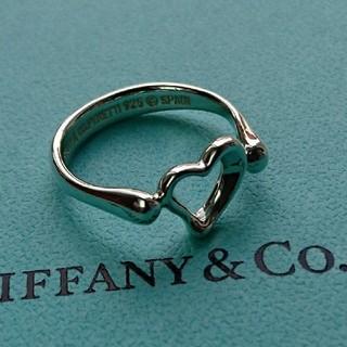 ティファニー(Tiffany & Co.)のティファニー オープン ハート リング 9号 正規品(リング(指輪))