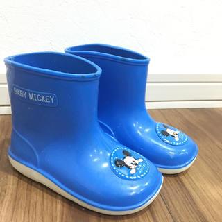 ディズニー(Disney)のベビーミッキー長靴 13㎝(長靴/レインシューズ)