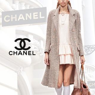 シャネル(CHANEL)の【18SS】CHANEL/2段フレア コットン ドレス ピンク(その他)