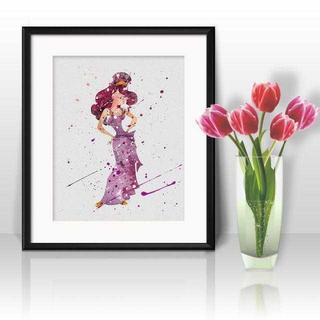 ディズニー(Disney)の日本未発売!メガラ(ヘラクレス)アートポスター【額縁つき・送料無料!】(ポスター)
