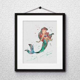 ディズニー(Disney)のアリエル(リトルマーメイド)アートポスター【額縁つき・送料無料!】(ポスター)