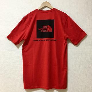ザノースフェイス(THE NORTH FACE)の新品 ザ ノースフェイス 海外企画 半袖Tシャツ バックプリント 赤x黒L(Tシャツ/カットソー(半袖/袖なし))