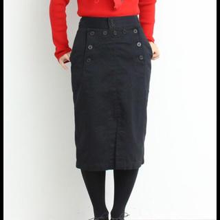 チャイルドウーマン(CHILD WOMAN)のCHILD WOMAN チノうしろレースアップ セーラースカート(ひざ丈スカート)