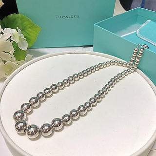 Tiffany & Co. - TIFFNYビーズネックレス