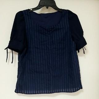 マジェスティックレゴン(MAJESTIC LEGON)のマジスティックレゴン トップス 紺 Tシャツ(Tシャツ(半袖/袖なし))
