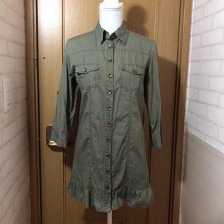 シマムラ(しまむら)のミリタリーシャツジャケット (ミリタリージャケット)