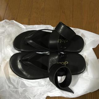 ★新品 JOLI ブラック レザーサンダル M / コムデギャルソン ヨウジ(サンダル)