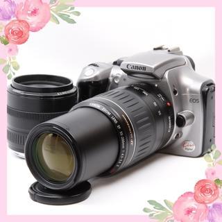 キヤノン(Canon)のスマホ転送OK❤おまけ多数Canon EOS kiss digital❤Wレンズ(デジタル一眼)