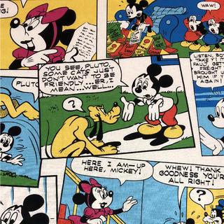 Disney - ミッキー コミック柄 生地