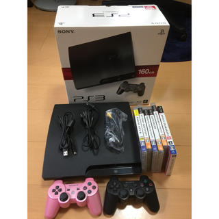PlayStation3 - ps3 cech-3000a 160gb ソフト6本