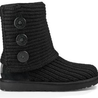 UGG - UGG ニット ブーツ ムートン 黒 ブラック