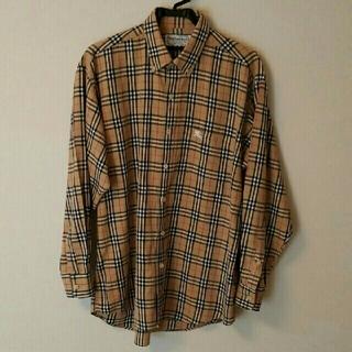 BURBERRY - バーバリーメンズチェックシャツ バーバリーズ ヴィンテージ ノバチェック美品L