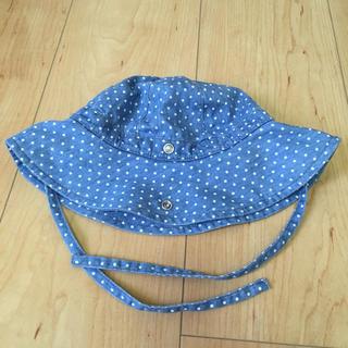 プチバトー(PETIT BATEAU)の美品 プチバトー ベビー帽子(帽子)