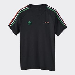 adidas - palace  adidas コラボ tシャツ Lサイズ ブラック