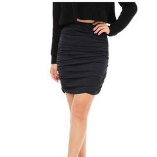 リップサービス(LIP SERVICE)のリップサービス♡シャーリングタイトスカート♡DaTuRa♡デイライルノアール♡(ミニスカート)
