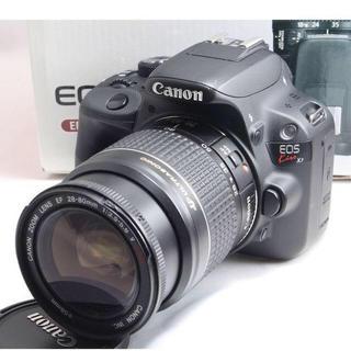 キヤノン(Canon)の✨女性に大人気✨Canon Kiss X7 レンズキット  保証付き(デジタル一眼)