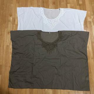 ムジルシリョウヒン(MUJI (無印良品))の無印良品  ブラウス2枚セット(カットソー(半袖/袖なし))